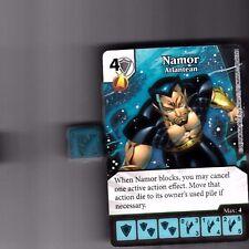 DICE MASTERS UNCANNY X-MEN UNCOMMON #80 NAMOR ATLANTEAN CARD WITH DICE