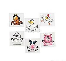 36 x Farm Animal Tattoos   Cow   Pig   Party Favours   Party   Barn Yard   Loot