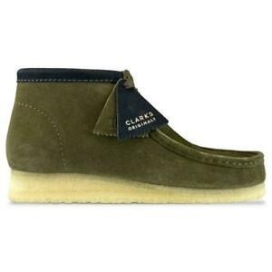 Clarks Originals Wallabee Boot Men Suede Moc Toe 2-Eye Shoes 26143241 Lavender