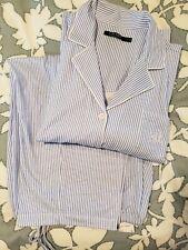 RALPH LAUREN XL Blue Striped Capri Leg Pant Pajama Set $70 NWT