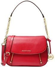 Michael Kors Bedford Convertible Red Leather Shoulder Crossbody Bag