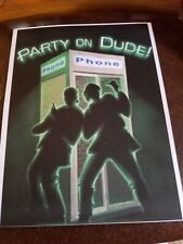 2001 Halloween Horror Nights 11 Bill And Ted's Party On Dude Print