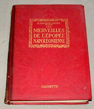 """1921 1st Edition """" Les Merveilles De L'Epopee Napoleonienne """" Hardcover Book"""