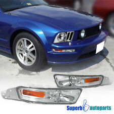 For 2005-2009 Ford Mustang V6 GT Signal Bumper Lights Parking Lamps Pair