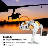 12BB 5.5:1 Full Metal Fishing Spinning Reel Right Left Folding Arm Saltwater AM