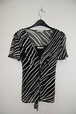 Party Cap Sleeve Striped Tops & Shirts for Women