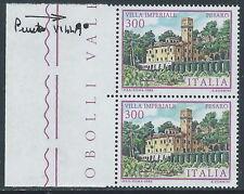 1983 ITALIA VILLE IMPERIALE VARIETà PUNTO SU VILLA MNH ** - C0-2