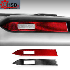 Carbon Fiber Strips Instrument Panel Car stickers For Ford mustang 2015-2019