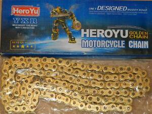 530 GOLD x-ring motorcycle drive chain X 120 links Triumph BSA Norton Matchless