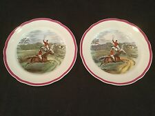 RARE RED RIM COPELAND SPODE HERRING HUNT 1 SALAD PLATE FULL CRY
