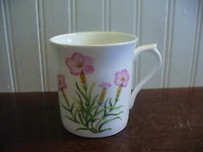 Queens Rosina Fine Bone China Rare Wildflowers Pink Floral Motif Mug