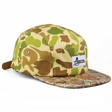 Agora Duck Camo Snakeskin 5 Panel Cap Hat snapback NEW