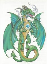 Tribal green Dragon colorful Temporary Tattoo NEW!