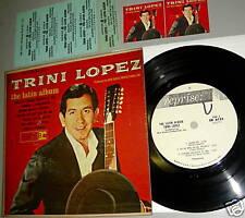 "TRINI LOPEZ the LATIN Album 7"" 33 Jukebox MiniLP 6 Songs"