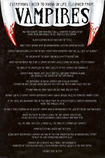 Vampires Everything I Know 24x36 Poster Print PA32145