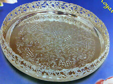 Chrome Silver/Gold Plated Round Platters Serving Tray beauitful design paandan..