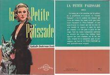 C1 CURIOSA PROSTITUTION Scott La PETITE PALISSADE 1954 New York LITTLE STOCKADE
