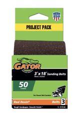 "Gator Power 3"" x 18"" Sanding Belt 50 Course 3 Pack 3x18 Belts Red Resin"