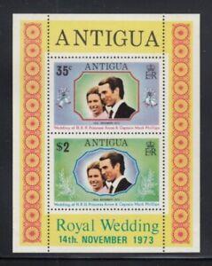 ANTIGUA Princess Anne Royal Wedding MNH souvenir sheet