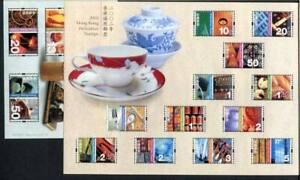 36477) HONG KONG 2002 MNH** Definitives s/s x 2