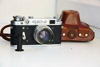 FED-2 USSR Rangefinder Film Camera (copy Leica) w/s lens JUPITER-8 50mm f/2 EXC