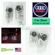 2 x LED Car Door Courtesy Laser Projector Logo Shadow Light For Audi A6 A7 A8 Q5