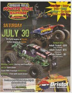 2011 Grave Digger + Spider-Man Bristol Monster Jam Monster Truck Flyer Handout