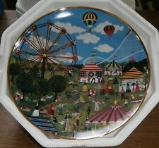 """8"""" Decorative Collector Plate """"Country Carnival"""" - with styro packaging"""