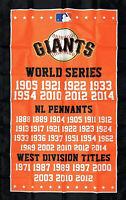 San Francisco Giants World Series Championship Flag 3x5 ft Banner Man-Cave New
