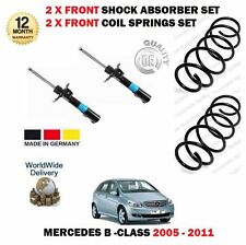 FOR MERCEDES B150 B160 B170 2005-> 2x FRONT SHOCK ABSORBER + 2X COIL SPRINGS SET