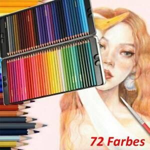 72 Aquarell Buntstifte Set,Buntstifte,Brillanten Farben Bleistifte, Zeichnen DHL