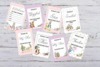 Peter Rabbit Baby Milestone Cards  Pack of 29 Cards Girls, Boys, Unisex 300gsm