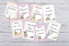Baby Milestone Cards Peter Rabbit Pack of 29 Cards Girls, Boys, Unisex 300gsm