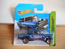 Hotwheels '55 Chevy Bel Air Gasser in Blue on Blister