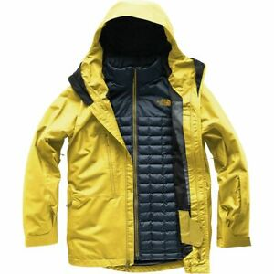 North Face Thermoball Snow Triclimate Hooded Jacket - Men's - Leopard Yellow- XL