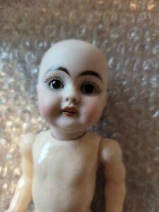 "Antique German Doll Kestner 129 143 head broke in back of head 8"" tall"