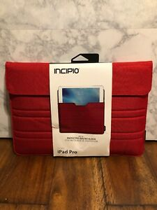 Incipio Delta Protective Quilted Sleeve Case iPad Pro (2017) iPad Air (2019) Red