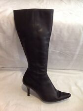 Florence+Fred Black Knee High Leather Boots Size 38