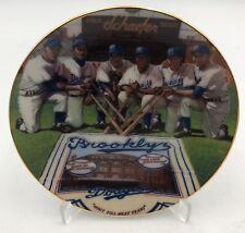 "1989 Brooklyn Dodgers Sports Impressions Porcelain Mini Plate 4"" & Free Stand"