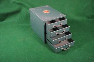 Vintage Wards Master Quality 4 Drawer Metal Cabinet   U.S.A.