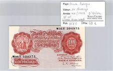 BILLET GRANDE BRETAGNE - 10 SHILLINGS (1955) - O'BRIEN - W05- 2 TROUS SINON NEUF