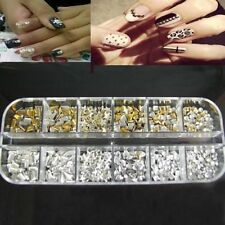 1200pcs Punk 3D ACRYLIC Nail Art Alloy Rivet Studs Spikes DIY Decoration tips