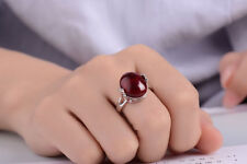 Muye 925 Sterling Silver Agate Ring For Women Jewelry Retro Style Size 8