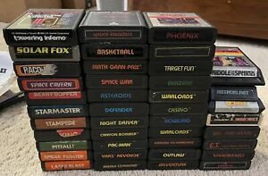 Lot of (41) GAMES for ATARI 2600 Donkey Kong PAC Man Asteroids - Tested