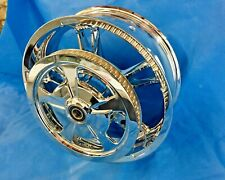 Harley CHROME TOURING STREET GLIDE ENFORCER REAR Wheel & Drive Pulley OUTRITE