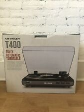 New listing Nwt Crosley T400A-Gy Component Turntable 2 Speed Vinyl Record Player Black
