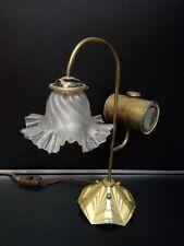Lampe design art déco vintage industriel cuivre laiton Clamfor art nouveau