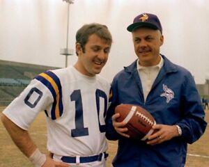 BUD GRANT & FRAN TARKENTON 8X10 PHOTO MINNESOTA VIKINGS NFL FOOTBALL