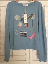 NWT WILDFOX COUTURE My Fave Things Baggy Beach Jumper Sweater Pullover Medium M