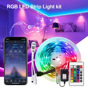 5m 16.4ft LED Strip Bar Tape Lights RGB 5050 Music Sync Bluetooth Color Changing